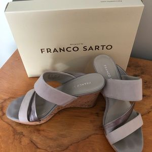 Wedge slide on sandal by Franco Sarto